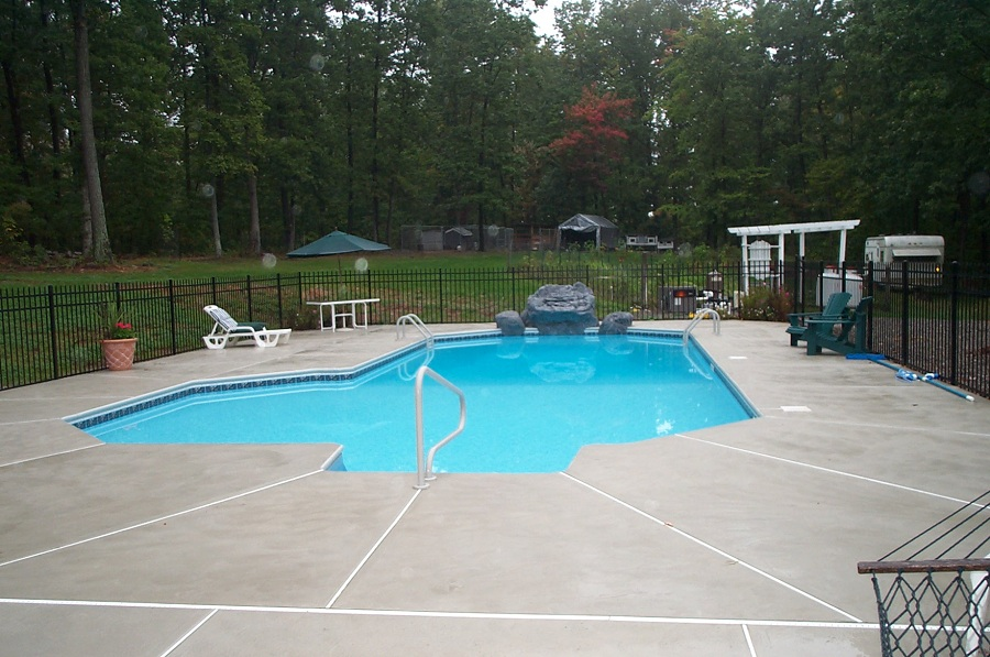 Concrete Pool deck in Northern NJ