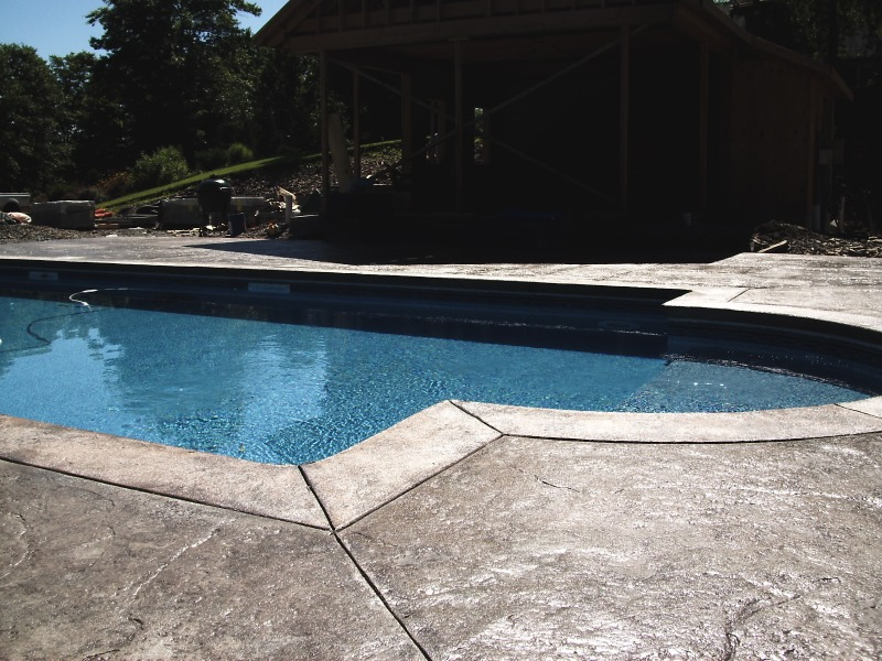 Natural Stone Pool Decks, Sussex County Concrete