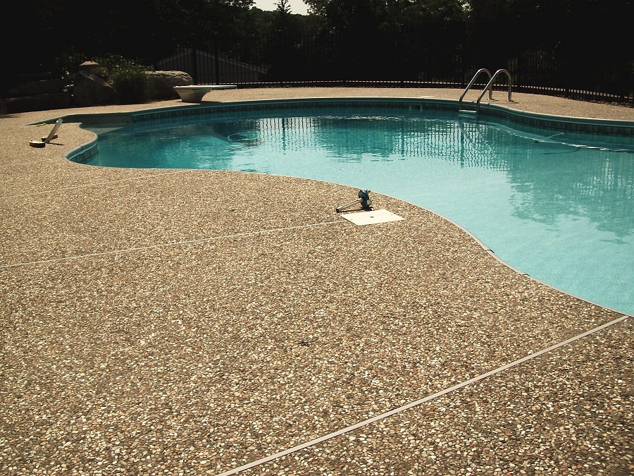 Stone Pool Deck in Sussex County NJ