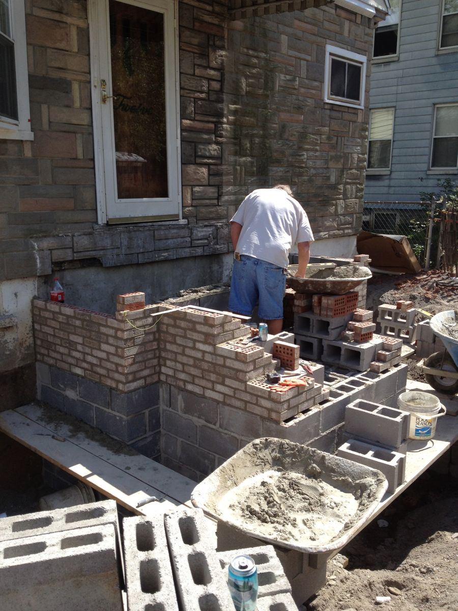 Building Masonry Steps
